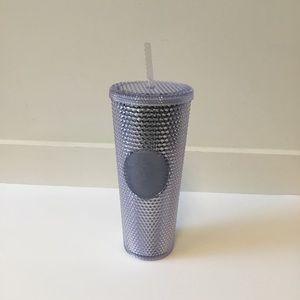 NEW 24oz Starbucks Venti Platinum Silver Stud Cup